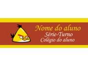 Etiqueta Escolar Média - ANGRY BIRDS AMARELO